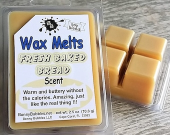 FRESH BAKED BREAD Wax Melt - soy blend - clamshell type - made by Bonny Bubbles