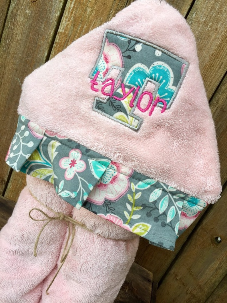 Personalized Hooded Towel Custom Hooded Bath Towel