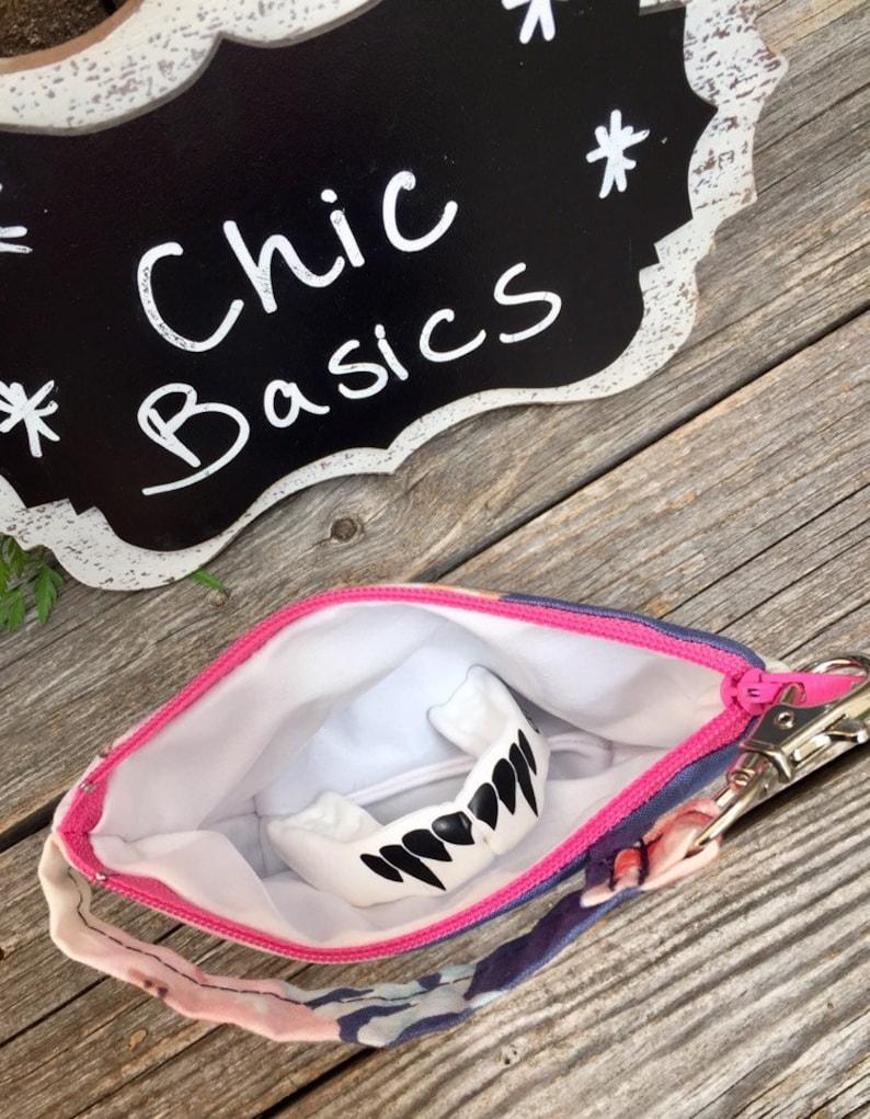 Custom Pacifier Pod Pacifier Bag 200 Fabric Choices Mouth Guard Case Dental Case Retainer Case Llama Small Zipper Pouch