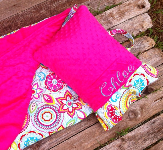 Personalized Kindermat Nap Mat Cover With Attached Minky