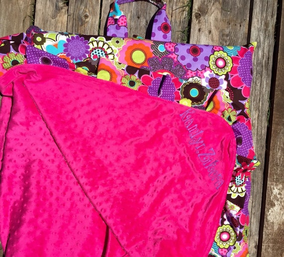 Kindermat Mats Cover With Attached Personalized Minky Blanket