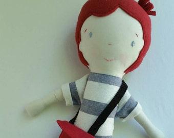 Bobby/Light - maylo studio cloth doll rag doll custom handmade modern