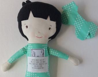 Matthew/Light - maylo studio cloth doll rag doll custom handmade modern