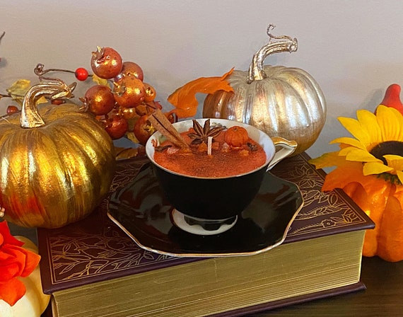 Pumpkin Spice Chai Teacup Candle
