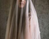 English net square cut drop veil, #1105