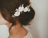 Marie Aude flower hairpins, SET of 3 #1313