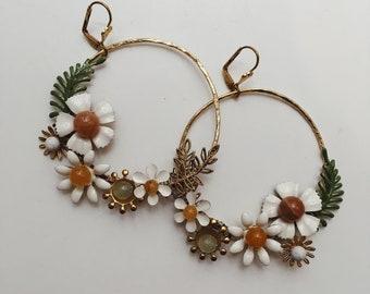 Bespoke hoop earrings, #1517