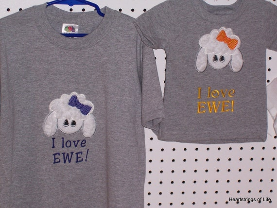 I love EWE or Don't Touch the Fluff T-Shirt or Sweatshirt