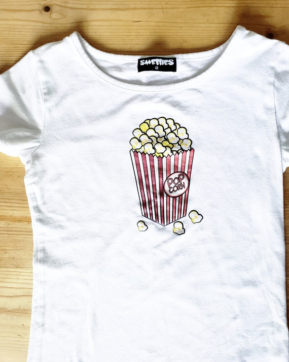 AwEsOmE 1990s Smellies Popcorn Scratch n Sniff Tee
