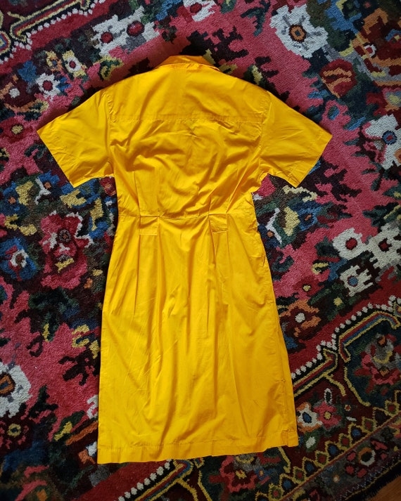 Vintage Bright Yellow 1980s OverSized Dramatic Dr… - image 3