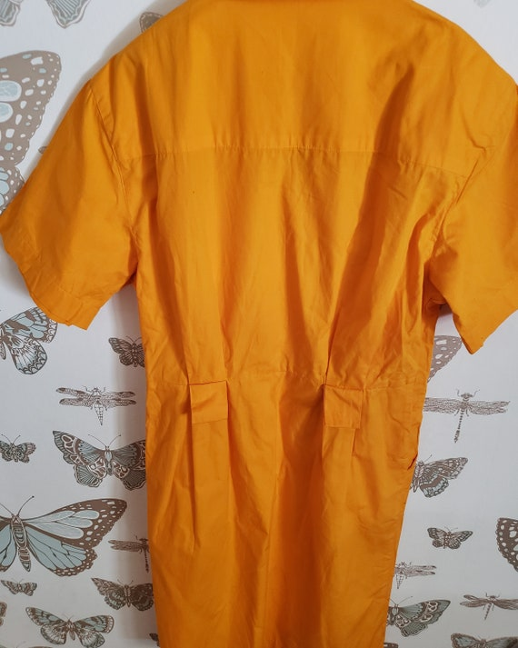 Vintage Bright Yellow 1980s OverSized Dramatic Dr… - image 8