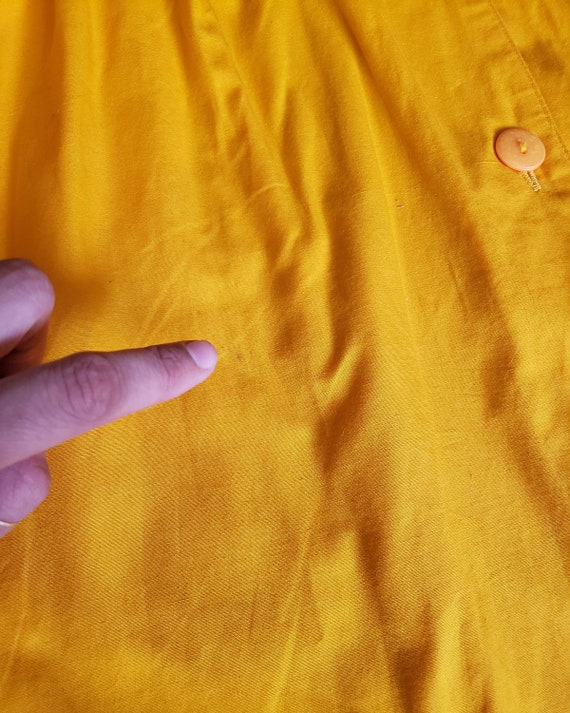 Vintage Bright Yellow 1980s OverSized Dramatic Dr… - image 7