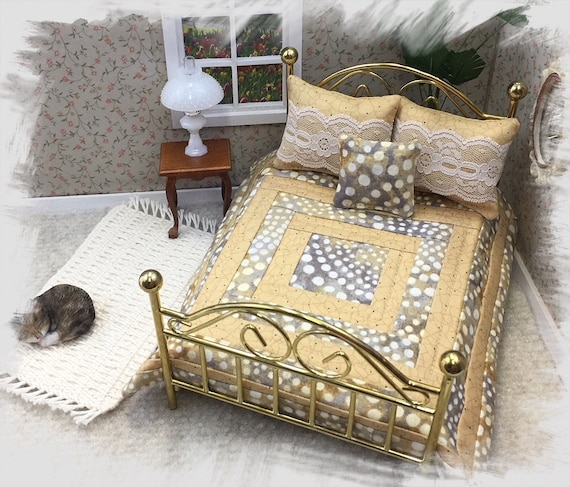 1:48 Dollhouse Miniature Quarter Scale Dowitcher Full Size Bed KIT