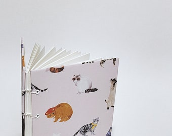 another cat journal - cat notebook - cute drawing cat sketchbook - cat watercolor sketchbook - cat lover gift - kitty sketchbook