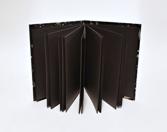 black pages UPGRADE - black page journal - black page notebook - black page sketchbook - gift for artists - blank book - gel pen journal