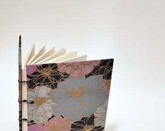pansy journal - floral notebook - artist sketchbook - botanical notebook - lay flat watercolor journal - nature notebook - flower sketchbook