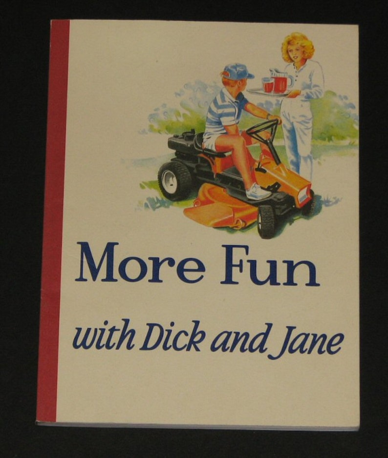 Funny dick and jane prints, naked little boy in the car