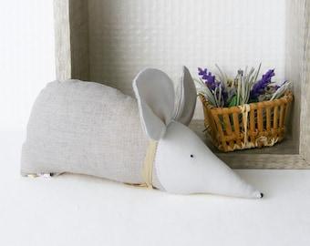 Organic lavender sachet in linen with scandinavian design
