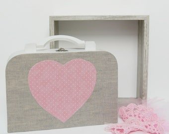 Little girl woodbox for doll clothes storage