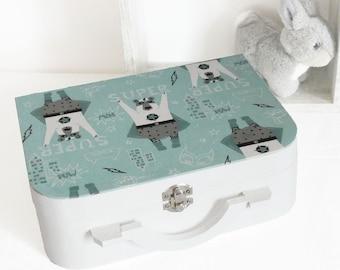 Super Hero Bear box, newborn baby boy shower
