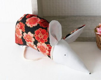 red pink decoration, japanese fabric home decor, sakura flower, fancy gift, lavender sachet