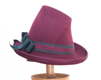 Marlen  Hat Deco Brim Hand Blocked Luxury Millinery Women