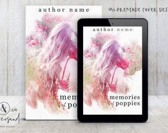 """Premade Digital eBook Book Cover Design """"Memories of Poppies"""" Literary Fiction Memoir YA Young New Adult Fiction"""
