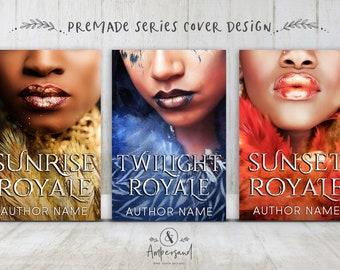 "3 Book Series Premade Digital eBook Book Cover Design Trilogy ""LUNA ROYALE"" Young New Adult YA Teen Fantasy Magic Royal"