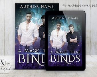 "Premade Digital eBook Book Cover Design ""A Magic That Binds"" Urban Fantasy MM Magic YA Young New Adult Fiction"