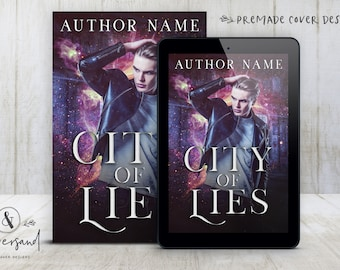 """Premade Digital eBook Book Cover Design """"City of Lies"""" Urban Fantasy Romance YA Young New Adult Fiction"""