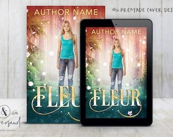 "Premade Digital eBook Book Cover Design ""FLEUR"" Urban Fantasy Romance Fairytale YA Young New Adult Fiction"