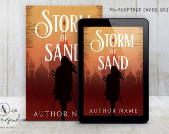 """Premade Digital eBook Book Cover Design """"Storm of Sand"""" Epic Fantasy Historical YA Young New Adult Fiction"""