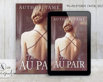 """Premade Digital eBook Book Cover Design """"The Au Pair"""" Literary Fiction Memoir YA Young New Adult Fiction"""