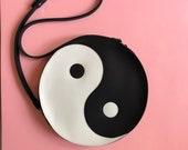 Yinyang leather circle bag, ying yang