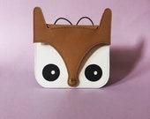 Fox Bag mini , Kids valentines , leather purse, animal bag