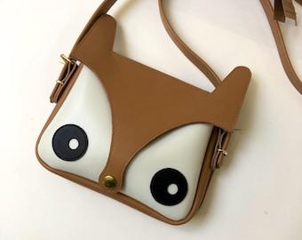 Fox Bag Original Design, La Lisette, Leather bag, foxy bag, animal bag, perfect gift, womens gift