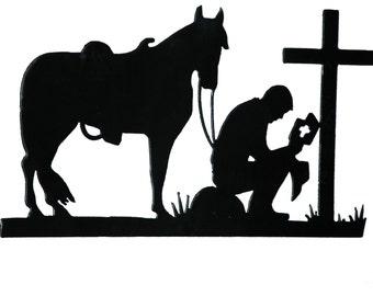 Texas Cowboy Church Praying Cowboy Bottle Opener Key Fob Key Holder Money Clip