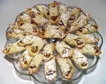 3 doz. KIFLI COOKIES,Hungarian cookies,filled cookies,walnut/poppy seed cookies