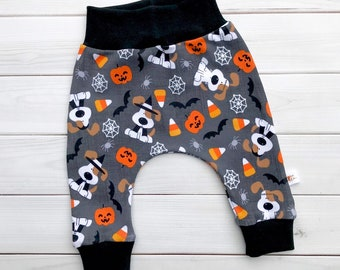 Halloween Kids Pants, Puppy Kids Pants, Dogs Baby Pants, Unisex Kids Pants, Glow in the Dark Pants