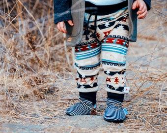 Boho Kids Pants, Fall Kids Pants, Tribal Kids Kids Leggings, Sweater Knit Baby Pants, Kilim Harem Pants, Fall Baby Leggings, Kids Pants