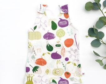 Vegetable Kids Organic Romper, Gift for Baby, Unisex Kids Romper, Vegetable Baby Romper, Baby Shorts Romper, Summer Romper, Kids Shorts Romp