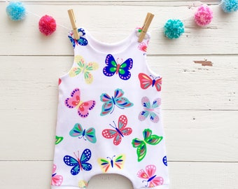 Baby Girl Romper, Baby Jumpsuit, Butterfly Baby Romper, Baby Shorts Romper, Baby Jumper, Baby Girl Clothes, Shorts Romper, Summer Romper
