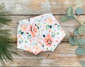 Floral Kids Shorts, Organic Baby Shorts, Summer Shorts, Shorties, Spring Baby Clothes, Toddler Shorts, Kids Shorts, Baby Girl Clothes