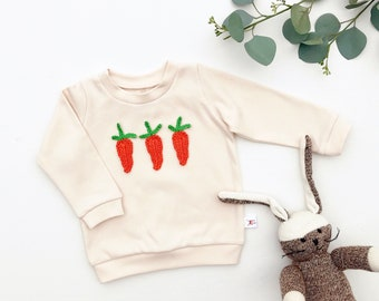 Vegetable Baby Outfit, Easter Kids Outfit, Organic Carrots Sweatshirt, Unisex Baby Shirt