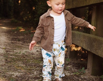 Woodland Kids Pants, Fall Kids Pants, Organic Baby Leggings, Bear Deer Fox Pants, Baby Gift Under 30
