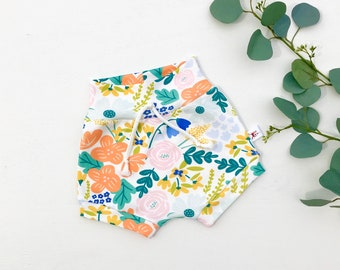 Floral Baby Shorts, Summer Kids Shorts, Baby Girl Clothes