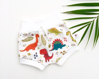 Dinosaur Kids Shorts, Organic Baby Shorts, Unisex Kids Shorts, Dino Shorties, Spring Kids Shorts, Summer Baby Shorts