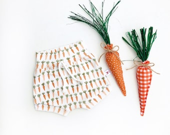Carrots Baby Shorts, Vegetable Kids Shorts, Gender Neutral Kids Clothes, Farmers Market Kids Shorts, Unisex Kids