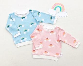 Rainbow Baby Pullover / Rainbow Sweatshirt / Boy Rainbow Shirt, Girl Rainbow Top