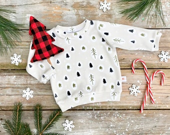 Woodland Organic Baby Pullover / Winter Kids Sweatshirt / Kids Top / Toddler Shirt